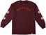 SPITFIRE OLD E COMBO SLEEVE BURGUNDY LS M