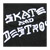 THRASHER SKATE AND DESTROY BLACK SS L