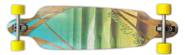 SAN CLEMENTE IMPOSSIBLES BAMBOO DROP DOWN SUPER CARVER LONGBOARD COMPLETE 10 X 39.75