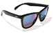 GLASSY DERIC BLACK/BLUE MIRROR SUNGLASSES