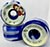 THE PORTLAND WHEEL COMPANY JAMES MARTIN WHITE/BLUE SWIRL 55MM 101A  (Set of 4)