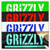 GRIZZLY STAMP STICKER