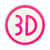 3D MAGENTA LOGO STICKER