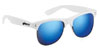 GLASSY SHREDDER WHITE/BLUE MIRROR SUNGLASSES
