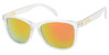 GLASSY DERIC CLEAR GREY/RED MIRROR SUNGLASSES