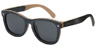 GLASSY DERIC SKATEBOARD FRAME WOOD SUNGLASSES
