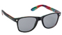 GLASSY LEONARD BLACK/TYE DYE SUNGLASSES