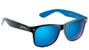 GLASSY LEONARD BLACK/BLUE BLUE MIRROR SUNGLASSES