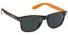 GLASSY LEONARD BLACK/ORANGE SUNGLASSES