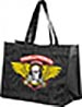 POWELL WINGED RIPPER BLACK TOTE BAG