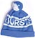 FOURSTAR LOGO POM BEANIE ROYAL BLUE