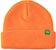 KROOKED  BEAN EYES CLIP CUFF ORANGE/GREEN BEANIE