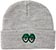 KROOKED  EYES HEATHER/GREEN BEANIE