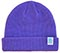 MEOW STACKED LOGO CUFFED PURPLE BEANIE