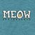 MEOW BAR LOGO HEATHER BLUE SS M