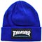 THRASHER LOGO PATCH BLUE BEANIE