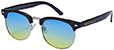 HAPPY HOUR G2 BLACK/OCEAN FADE SUNGLASSES