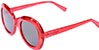 HAPPY HOUR BIKINI BEACH CLEAR RED/BLACK LENS SUNGLASSES