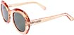 HAPPY HOUR BIKINI BEACH CLEAR ORANGE SUNGLASSES