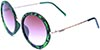 HAPPY HOUR SQUARE MATTE GREEN TORTOISE/PURPLE FADE LENS SUNGLASSES