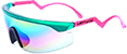 HAPPY HOUR ACCELERATOR TEAL/PINK SPLATTER  SUNGLASSES