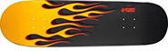 POWELL HOT ROD FLAMES  YELLOW/CHARCOAL RE-ISSUE DECK 9.38