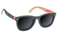 GLASSY DERIC SKATEBOARD FRAME WOOD POLARIZED SUNGLASSES