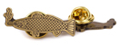 GOOD WORTH & CO SMOKING FISH BRASS LAPEL PIN