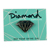 DIAMOND METAL BRILLIANT ENAMEL PIN BLACK/SILVER
