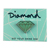 DIAMOND METAL BRILLIANT ENAMEL PIN DIAMOND BLUE/SILVER