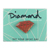 DIAMOND METAL BRILLIANT ENAMEL PIN RED/GOLD