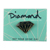DIAMOND METAL BRILLIANT ENAMEL PIN BLACK/GOLD