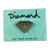 DIAMOND METAL BRILLIANT ENAMEL PIN SILVER