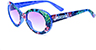 HAPPY HOUR BEACH PARTY BLUE HAWAIIAN SHADES SUNGLASSES