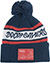 DOOM SAYERS DSC NAVY/WHITE/RED POM BEANIE