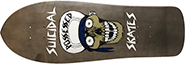 DOGTOWN X SUICIDAL SKATES PUNK SKULL TRANS BLACK RE-ISSUE DECK 10 X 30.75