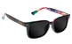 GLASSY LOX BLACK/TYE DYE SUNGLASSES
