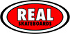 REAL OVAL CLASSIC RED SM STICKER
