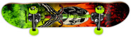 POWELL SKULL & SWORD STORM RED/LIME COMPLETE 7.50