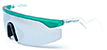 HAPPY HOUR LEABRES ACCELERATORS TEAL/CLEAR FROST SHADES SUNGLASSES