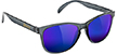 GLASSY DERIC CLEAR GREY/BLUE MIRROR SUNGLASSES