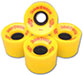DOGTOWN MINI CRUISER YELLOW WHEELS 59MM 84A (Set of 4)
