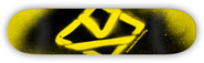 KROOKED TEAM SPRAY YELLOW PP DECK 8.06