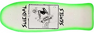 DOGTOWN X SUICIDAL TENDENCIES SUICIDAL POOL SKATER WHITE/GREEN FADE RE-ISSUE DECK 10.00
