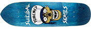 DOGTOWN SUICIDAL SKATES SKULL BLUE PUNK POINT DECK 8.75