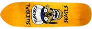 DOGTOWN SUICIDAL SKATES SKULL YELLOW PUNK POINT DECK 8.75