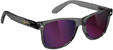 GLASSY LEONARD DARK GREY/PURPLE MIRROR SUNGLASSES