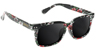 GLASSY LOX BLACK/FLORAL SUNGLASSES