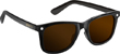 GLASSY MIKE MO MATTE BLACK/BROWN LENS POLARIZED SUNGLASSES