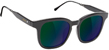 GLASSY ROYAL MATTE BLACK/GREEN MIRROR SUNGLASSES